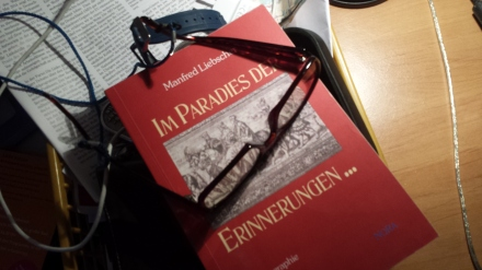 """Cover von """"Im Paradies der Erinnerungen ..."""", der Autobiografie von Manfred Liebscher; Foto: C.-D. Stille"""
