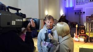 Heinz Ratz beim WDR-Interview