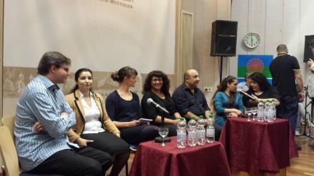 Die Teilnehmer der Podiumsdiskussion in der Auslandsgesellschaft Dortmund; Fotos: C. - D. Stille