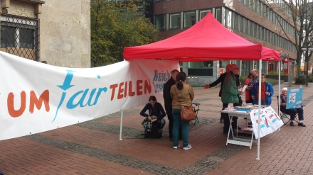 In Dortmund haben sich engagierte Bürger für UMfairTeilung engagiert; Fotos: C.-D. Stille