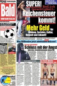 "Ausgabe der ""Bald""; Grafik: Bündnis UMfairTEILEN"