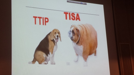Protest gegen TTIP und auch gegen TiSA gibt es. Wie aber kann man die Proteste zusammenführen? Foto: C.-D.Stille