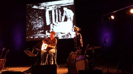 Tjerk Ridder zurück auf Zollverein auf der Bühne des Salzlagers; Fotos: Stille