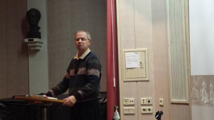 Prof. Dr. Christoph Butterwegge während seines Vortrags in Dortmund; Fotos: Stille
