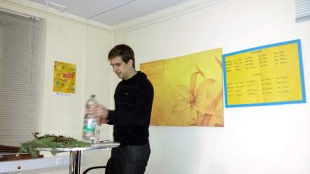 Bastian Pütter während seines Vortrages bei der Dortmunder AWO; Foto: Stille