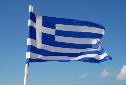 Die griechische Flagge; Foto: Manfred Nuding via Pixelio.de