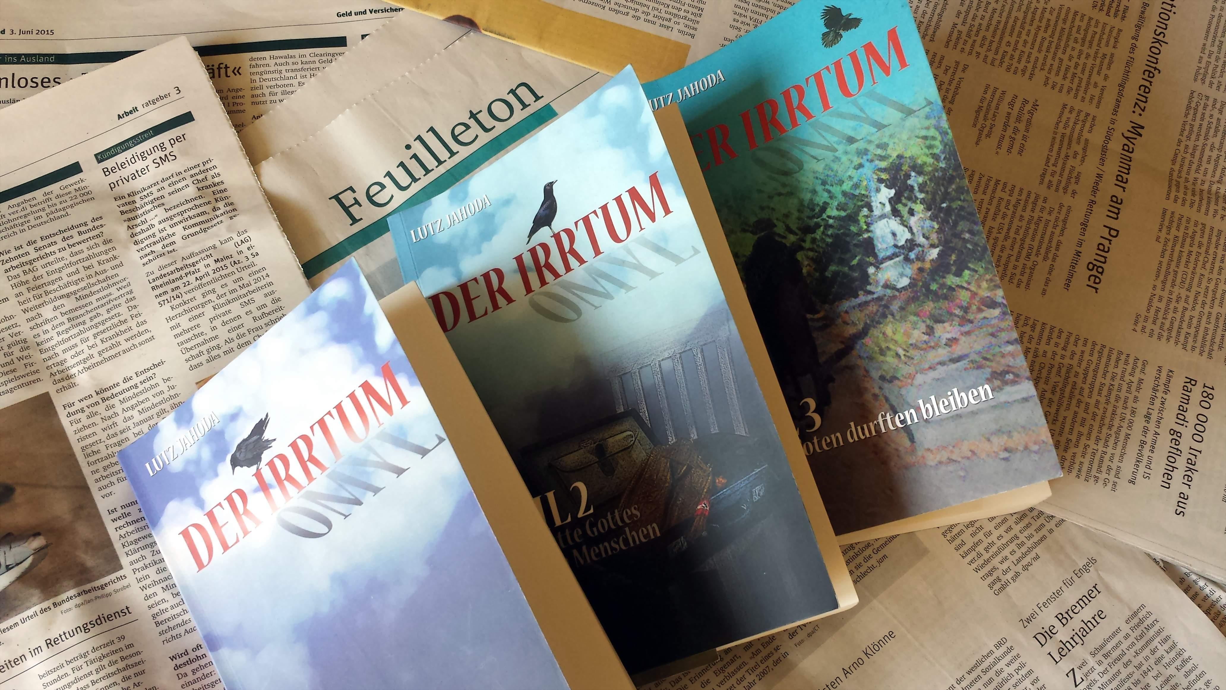 Die Roman-Trilogie aus der Hand Lutz Jahodas ist in der edition lithaus erschienen; Foto: C.-D. Stille