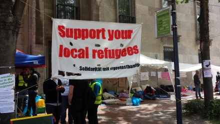 Fotos vom Protestcamp syrischer Flüchtlinge in der Innenstadt von Dortmund; Claus-Dieter Stille