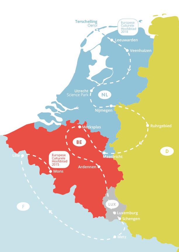 Die Reiseroute; Grafik via Tjerk Ridder