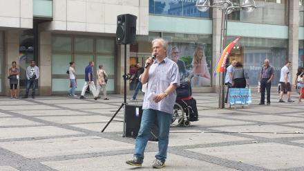 Reiner Braun bei einer früheren Veranstaltung in Dortmund; Foto: C.-D. Stille.