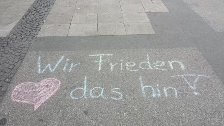 Gesehen bei der Friedenstournee 2015 in Dortmund; Foto: Claus-Dieter Stille
