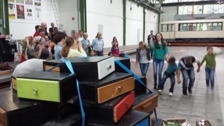 "Ouvertüre zum Festival: Das Projekt ""Schubladen"" im Dortmunder Theater im Depot; Fotos. C.-D. Stille"
