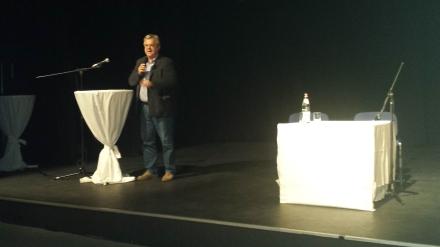 AWO-Unterbezirksvorsitzender Andreas Gora während seiner Ansprache.