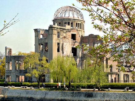 Mahnendes Gedenken: Der Atombombendom in Hiroshima; Foto. bildpixel via Pixelio.de