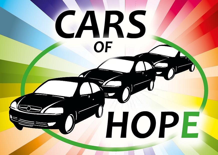 Logo engagierten Helfer; via #CarsOfHope Wuppertal.