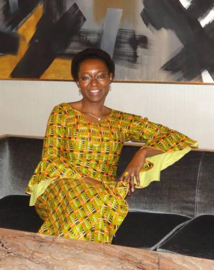 """Veye Tatah ist Gründerin des Vereins """"Africa Positive"""" und ehrenamtliche Chefredakteurin des gleichnamigen Magazin; Foto: mit freundlicher Genehmigung von Veye Tatah."""