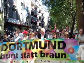 Antinazidemo in Dortmund vor ein paar Jahren. Foto: Claus-Dieter Stille