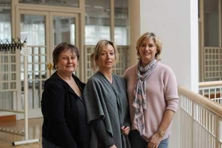 Die Vertreterinnen der Dortmunder Mitternachtsmission: Andrea Hitzke, Silvia Vorhauer und Petra Papirowski (v.L.n.r.).  Fotos (2): Leopold Achilles