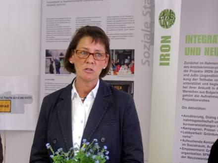 Bürgermeisterin Birgit Jörder lobte das Projekt im Auftrag der Stadt Dortmund.