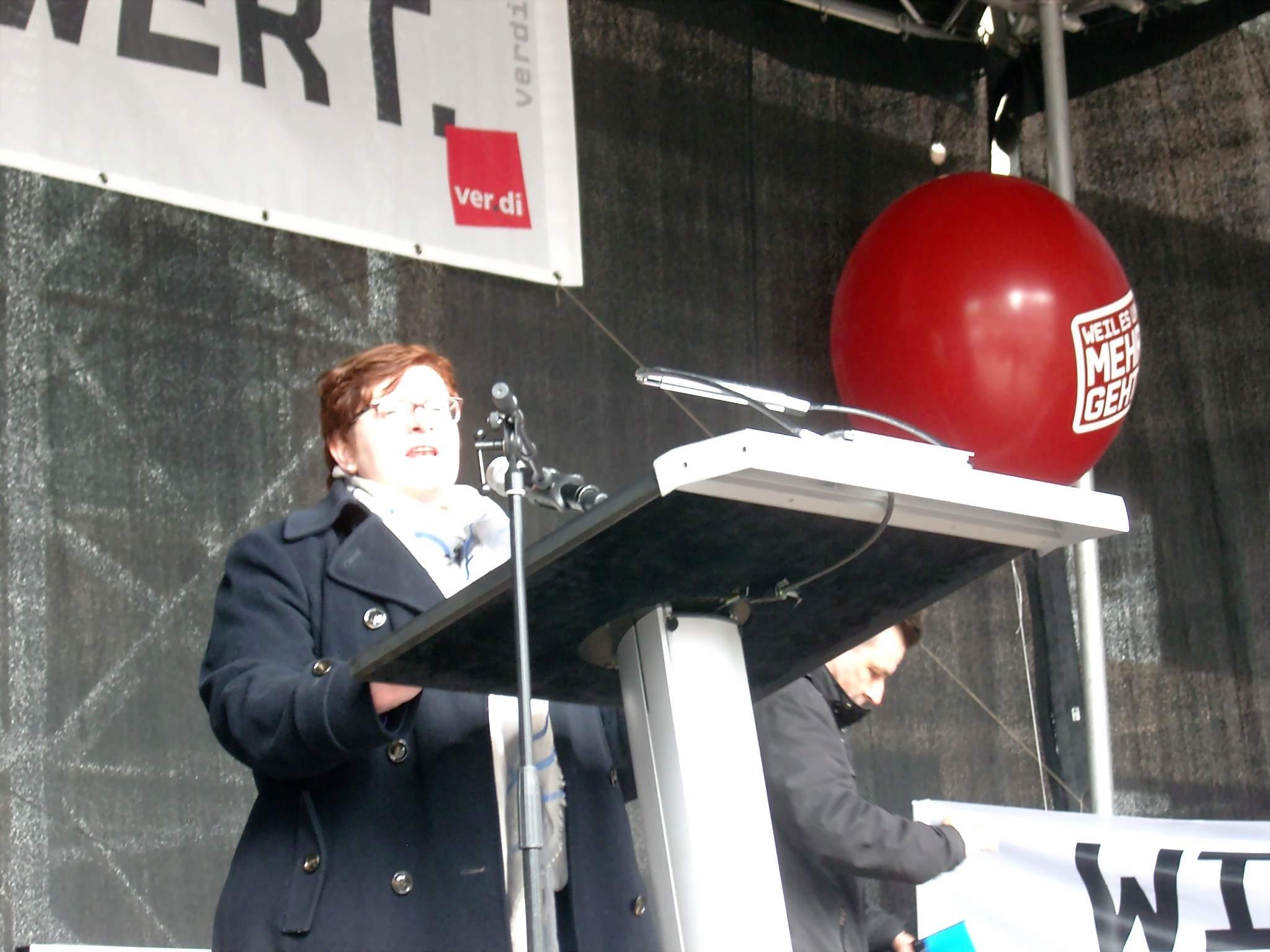 Christine Behle vom ver.di-Bundesvorstand.
