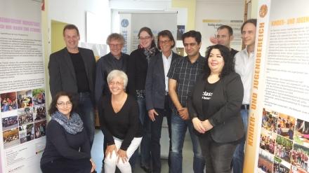 Das Team von KODIAQ und Planerladen (Links hinten Thorsten Hoffmann, MdB CDU; Mitte Bürgermeisterin Birgit Jörder; Fotos: C.-D. Stille