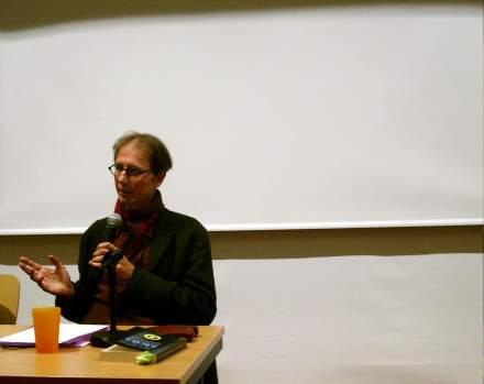 Fabinan Scheidler beantwortet Fragen aus dem Publikum.