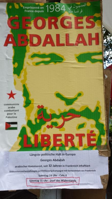 Freiheit für Ibrahim Georges Abdallah.