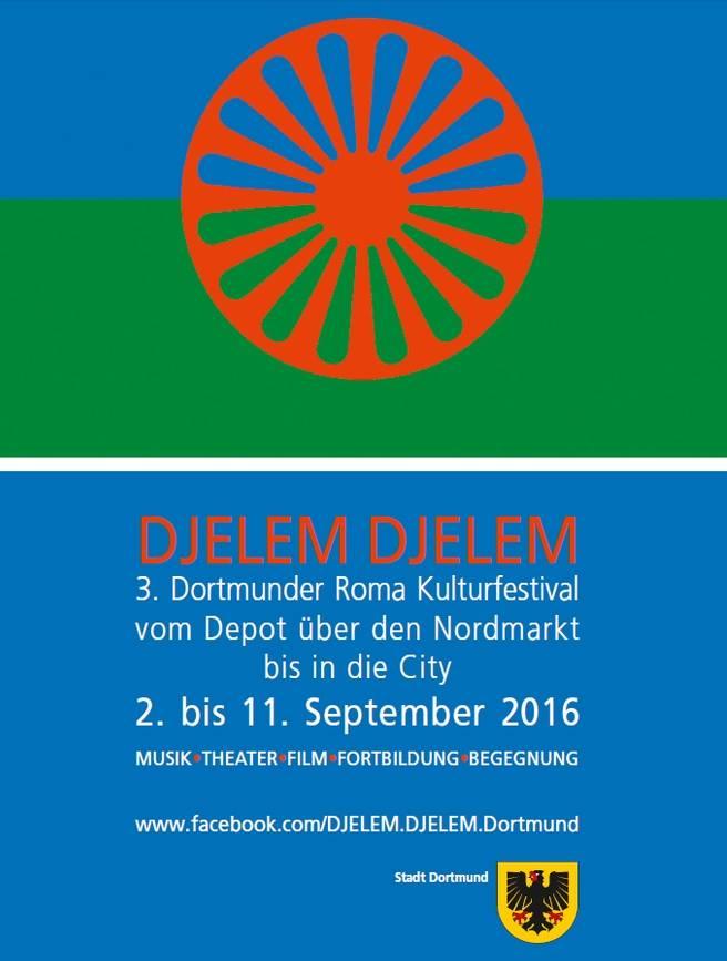 Logo via Kulturfestival Djelem Djelem.