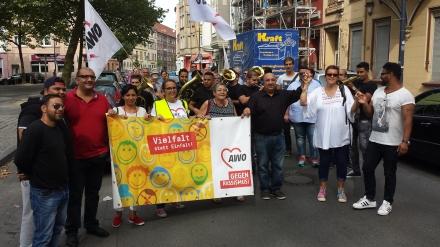 Demozug für Vielfalt statt Einfalt in der Dortmunder Nordstadt. Fotos: Stille
