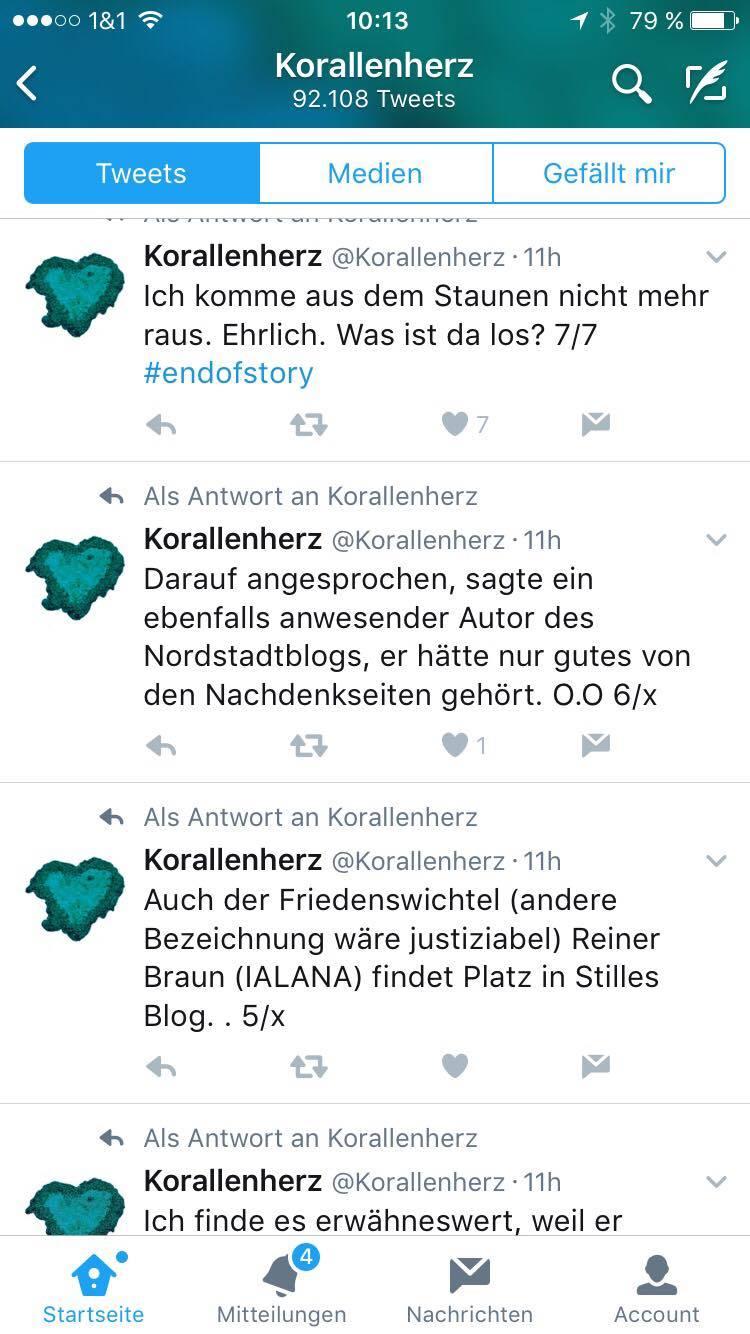 """Screenshot """"Korallenherz"""" auf Twitter: V."""