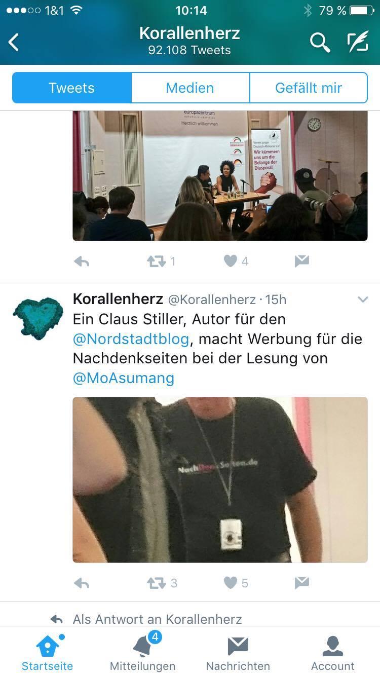 """Das T-Shirt des Teufels. Screenshot """"Korallenherz"""" auf Twitter via V."""