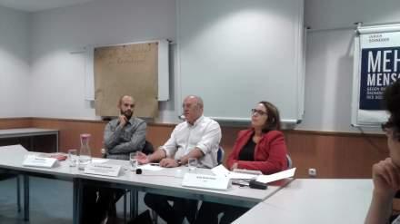 Bei der AWO wurde das Thema soziale Ungleichheit in Deutschland diskutiert. Abgebildet v.l.n.r: Marco Bülow (MdB SPD), Dr. Ulrich Schneider und Anja Butschkau (AWO).