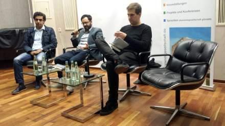 Sprachen zum Thema und diskutierten über das Buch: Ali Sirin, Caner Aver und Bastian Pütter (v.l.n.r) Fotos: Stille